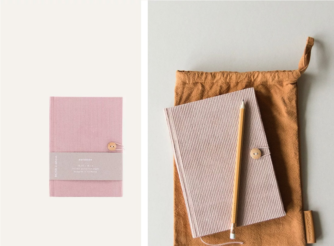 Notebook S Corduroy by  Monk & Anna