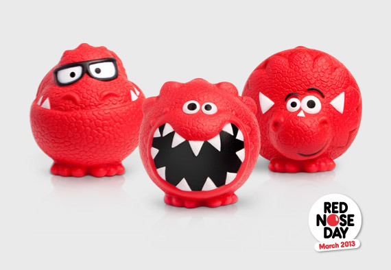 Designing the first collectible set of Red Noses with feet - Red Nose Day 2013 for Comic Relief