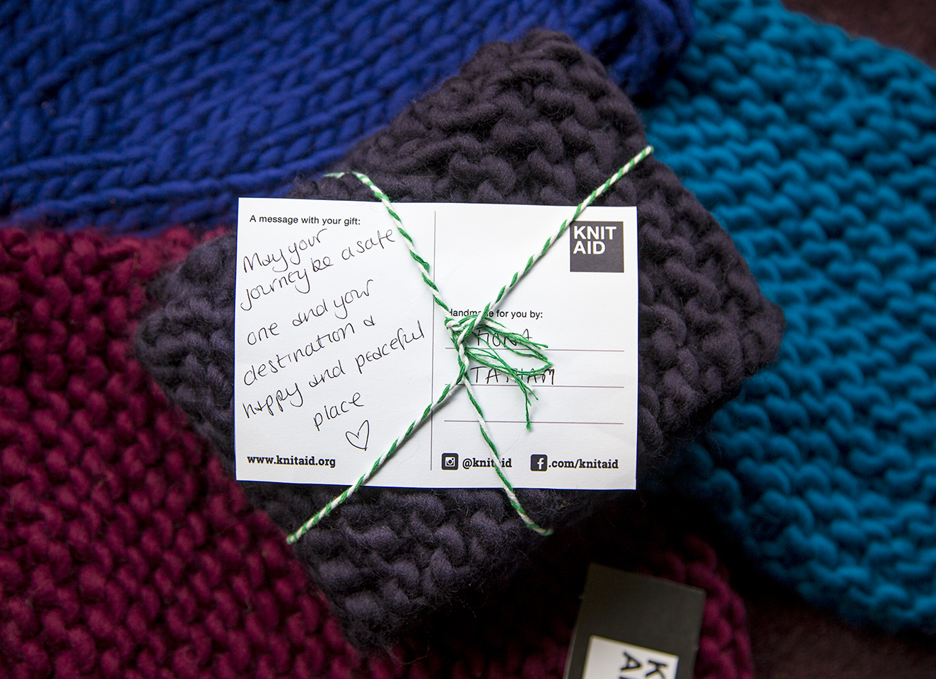 Knit Aid – A global social movement empowering refugees through knitting -