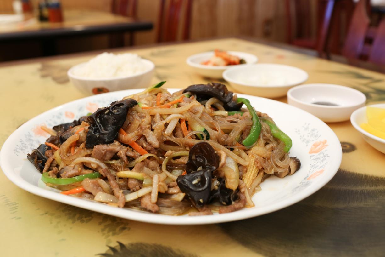Chap Chae - vermicelli, shredded pork & vegetables