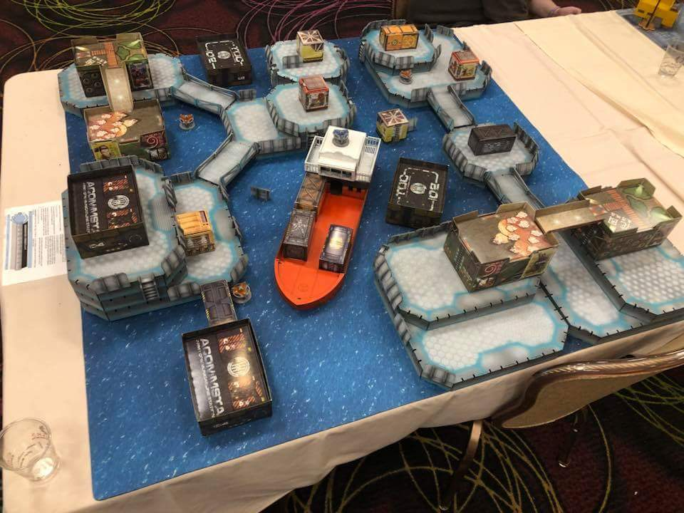An awesome water-based table at the LVO.