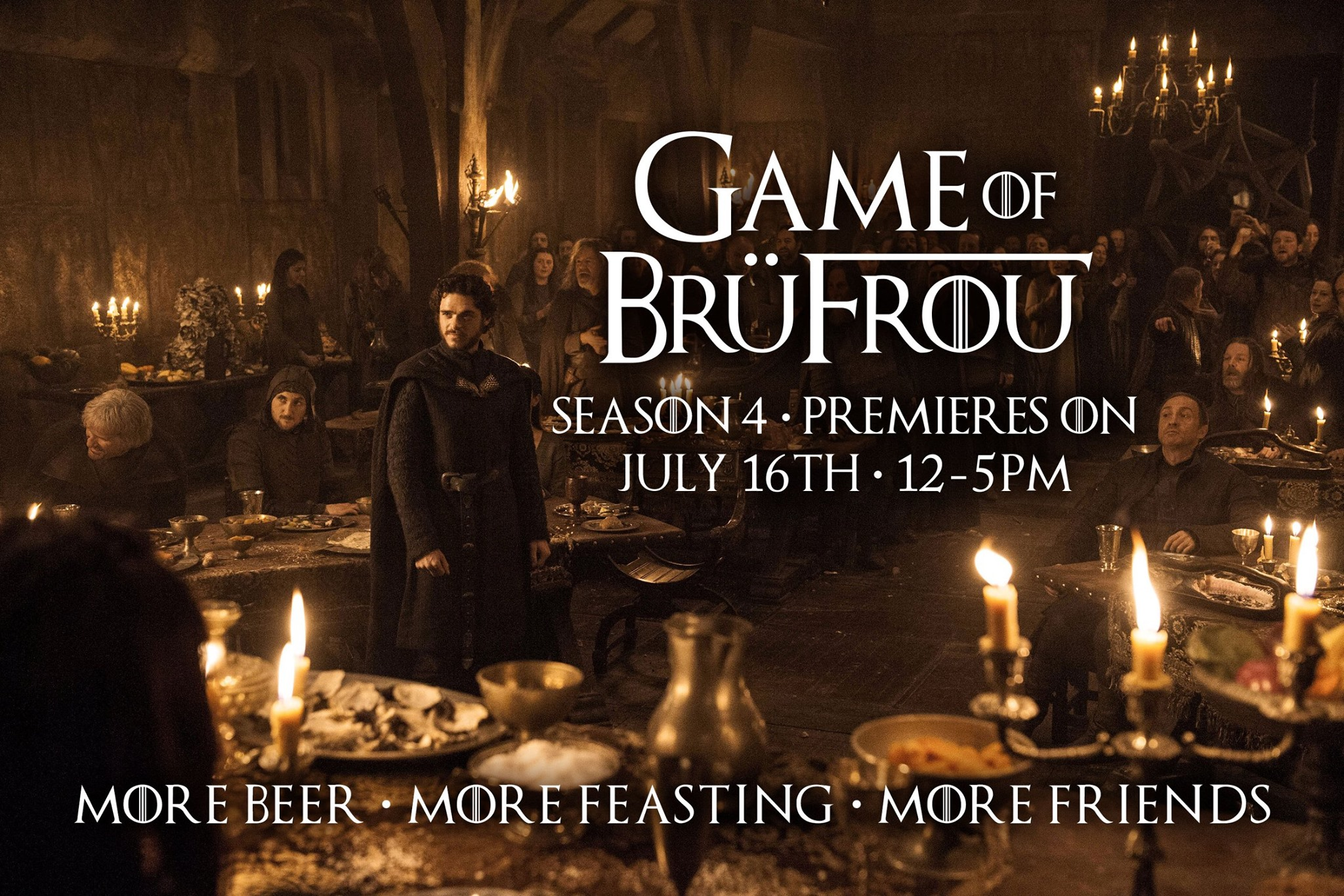 "Next Sunday, July 16th from 12-5pm, dance & sing to joyous live music, feast like kings & queens (but with more friends around ;-)). And of course be home in time for the Season 7 premiere of Game of Thrones at 7pm. Get your BrüFrou tickets from $40 for the best ""GoT"" pre-party in Denver at www.BruFrou.com"