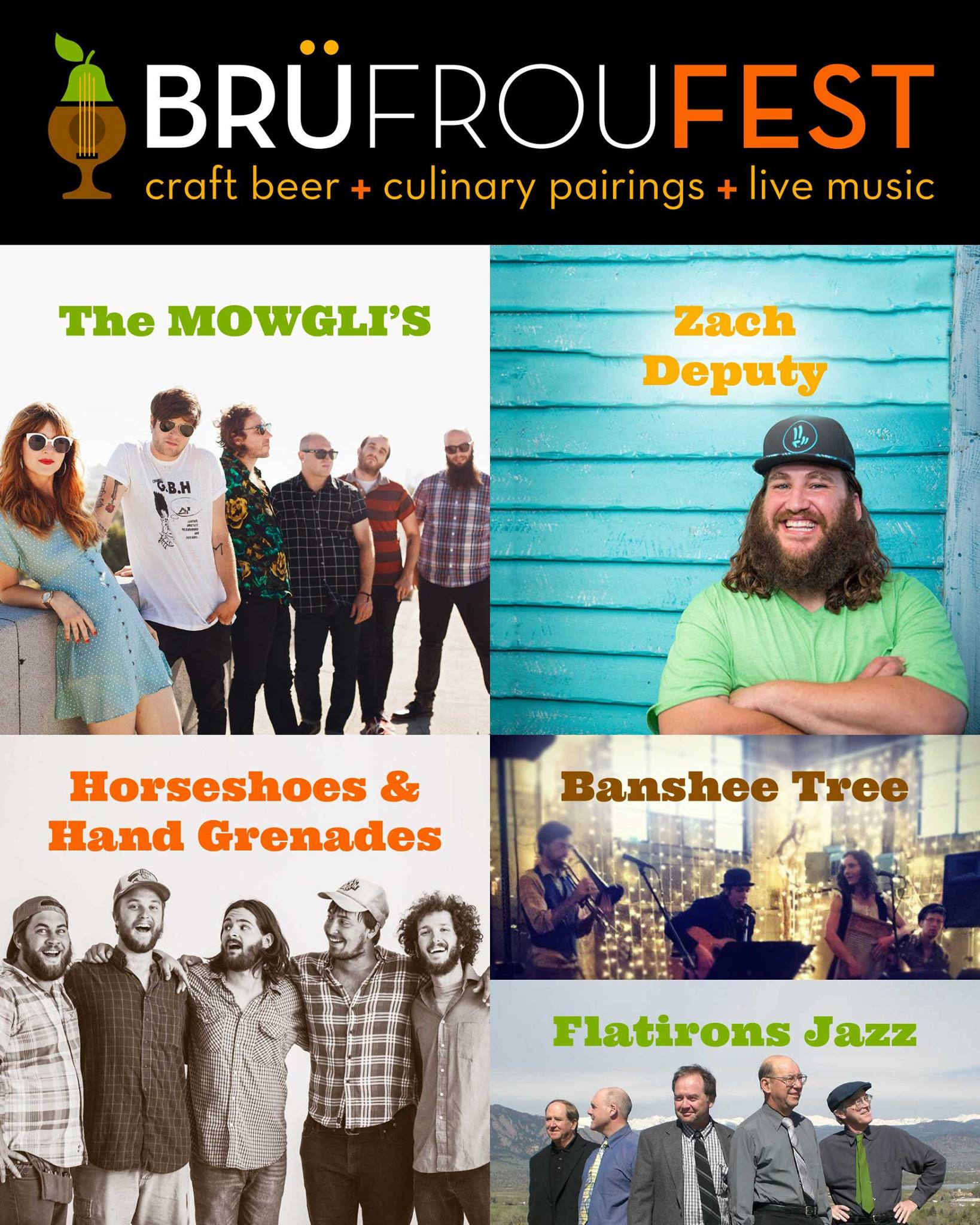 The BrüFrouFEST 2017 live music lineup is complete. Featuring national touring artists from coast-to-coast along with some great local favorites, it's going to be an amazing day of music, food & craft beer! www.BruFrou.com/music  GA Tickets start at $40 which include 8 Craft Beer Tasters paired w/ 8 One-bite Dishes + 5 hours of live music & DJ sets! www.BruFrou.com/tickets