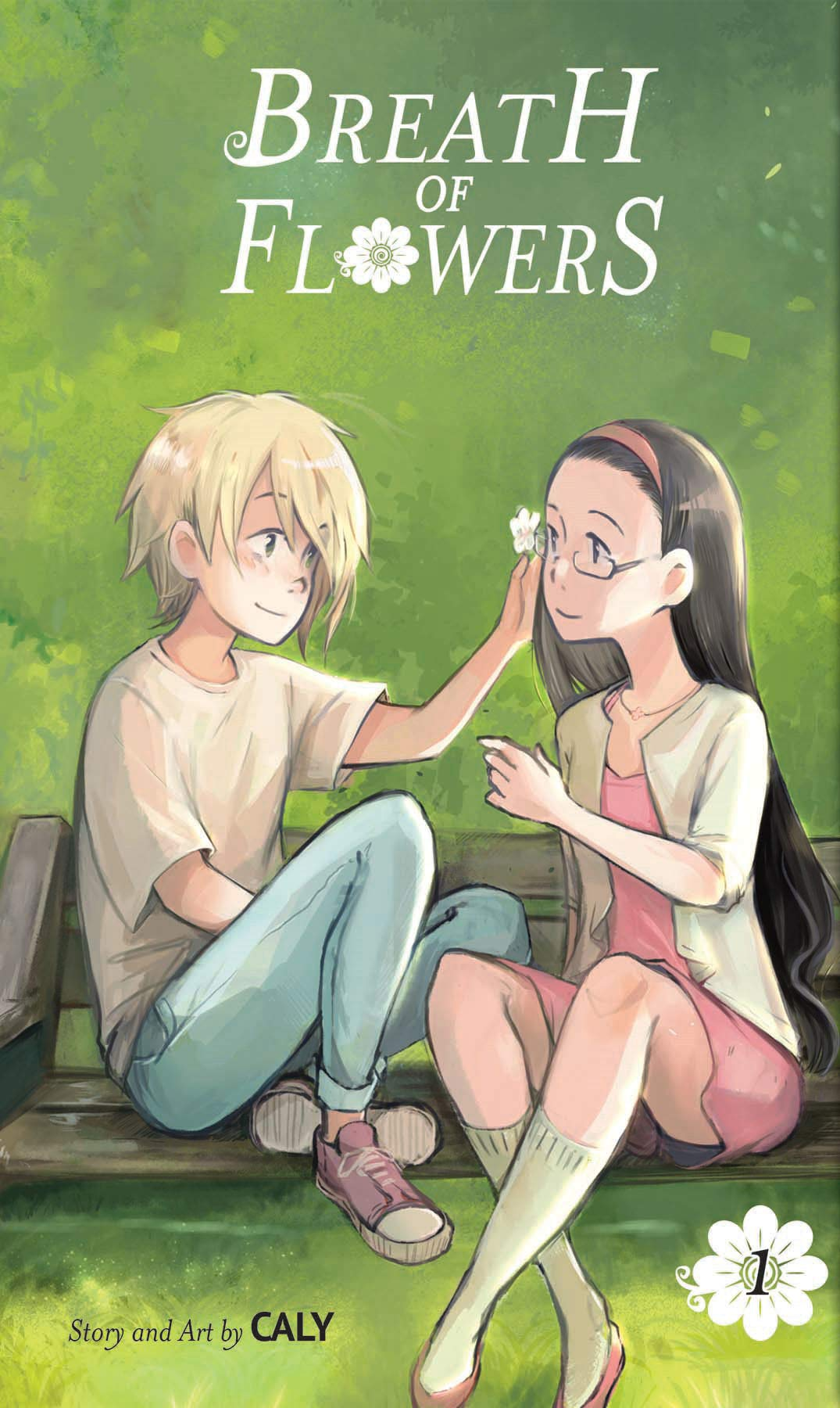 Title:  Breath of Flowers, Volume 1 , Author: Caly, Publisher: Tokyopop, Publish Date: August 20, 2019; Genre(s): YA, Young Adult, Contemporary, Romance, LGBT, Graphic Novel, Manga, YA Contemporary Romance LGBT