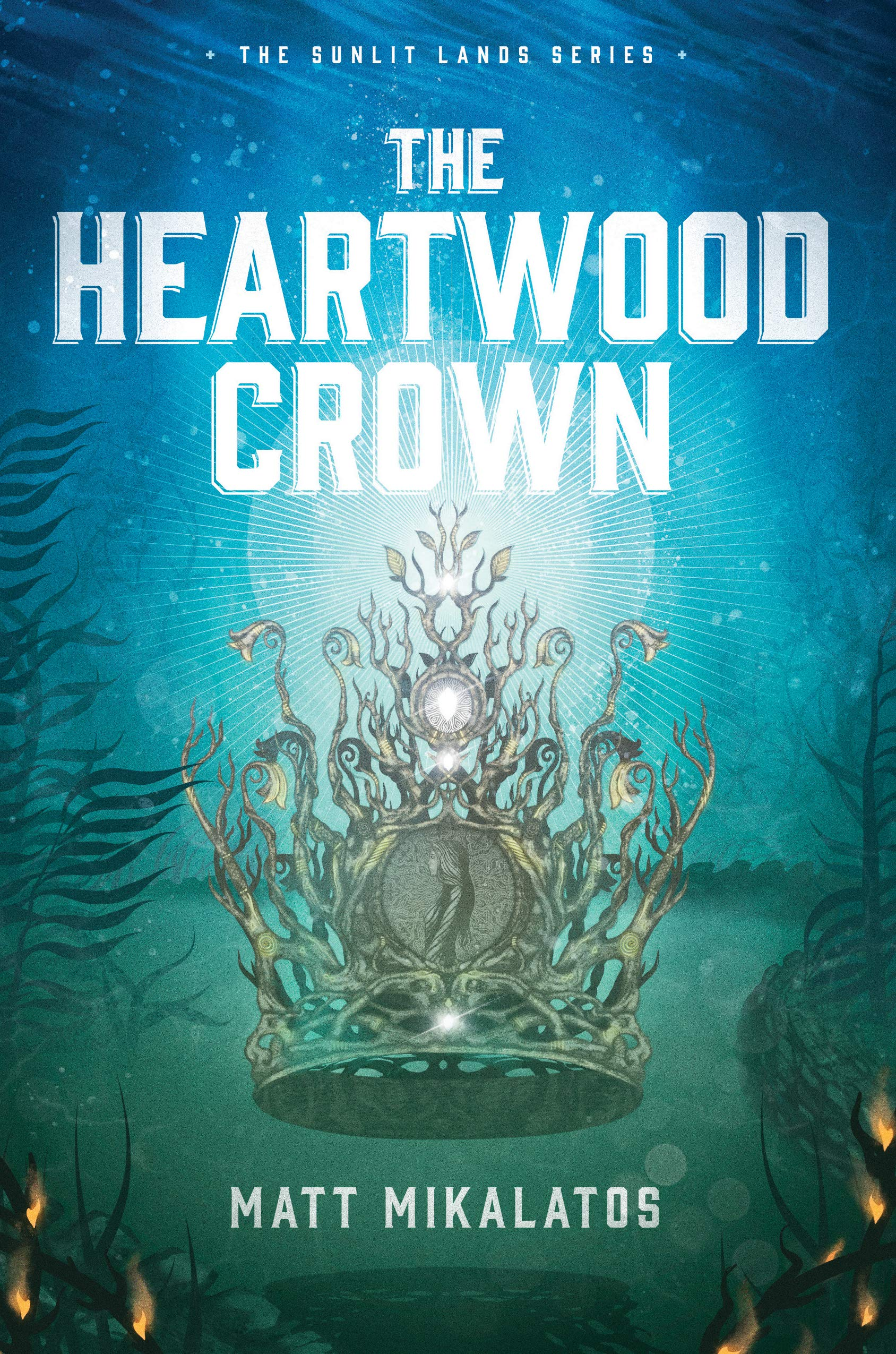Title:  The Heartwood Crown (The Sunlit Lands #2) , Author: Matt Mikalatos, Publisher: Wander, Publish Date: August 6, 2019; Genres + Tags: YA, Young Adult, Fantasy, Epic, YA Epic Fantasy, Cover Art Love