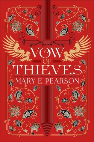 Title:  Vow of Thieves (Dance of Thieves #2) , Author: Mary E. Pearson, Publisher: Henry Holt, Publish Date: August 6, 2019; Genres + Tags: YA, Young Adult, Fantasy, High Fantasy, YA Fantasy, The Remnant Chronicles Universe
