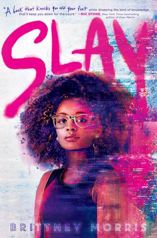 Title:  Slay , Author: Brittney Morris, Publisher: Simon Pulse, Publish Date: September 24, 2019; Genres + Tags: Young Adult, YA, Contemporary, Cultural Diversity, Gaming, Video Games, YA Contemporary
