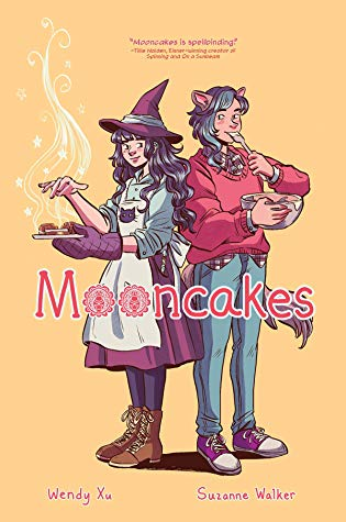 Title:  Mooncakes , Author: Suzanne Walker, Publisher: Lion Forge, Publish Date: October 15, 2019; Genres + Tags: Young Adult, YA, Fantasy, Paranormal, Romance, Graphic Novels, Comics, LGBT, Shapeshifters, Witches, YA Comics, YA Graphic Novels, YA Paranormal Romance