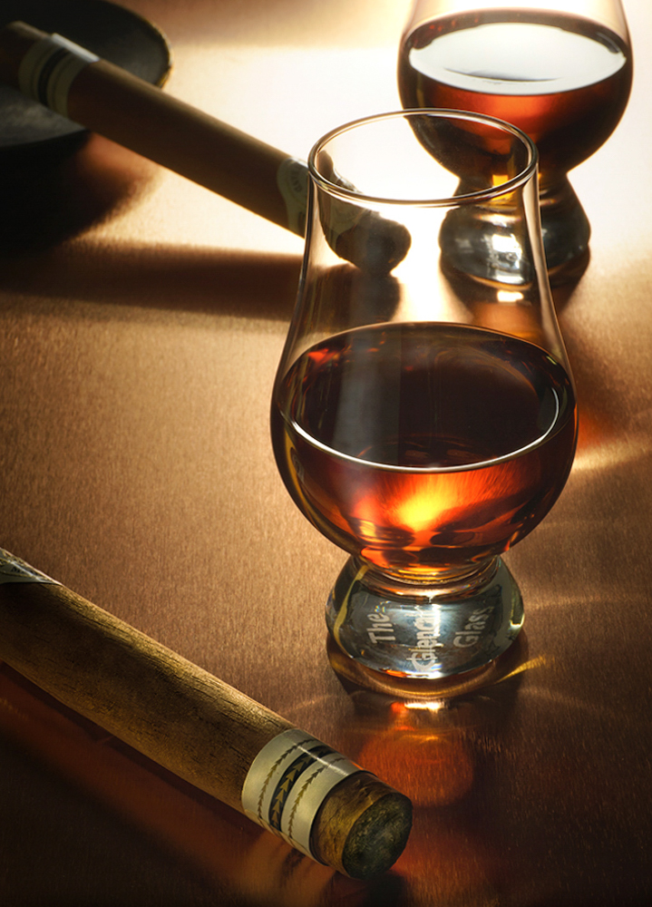 fine whiskey and expensive cigars