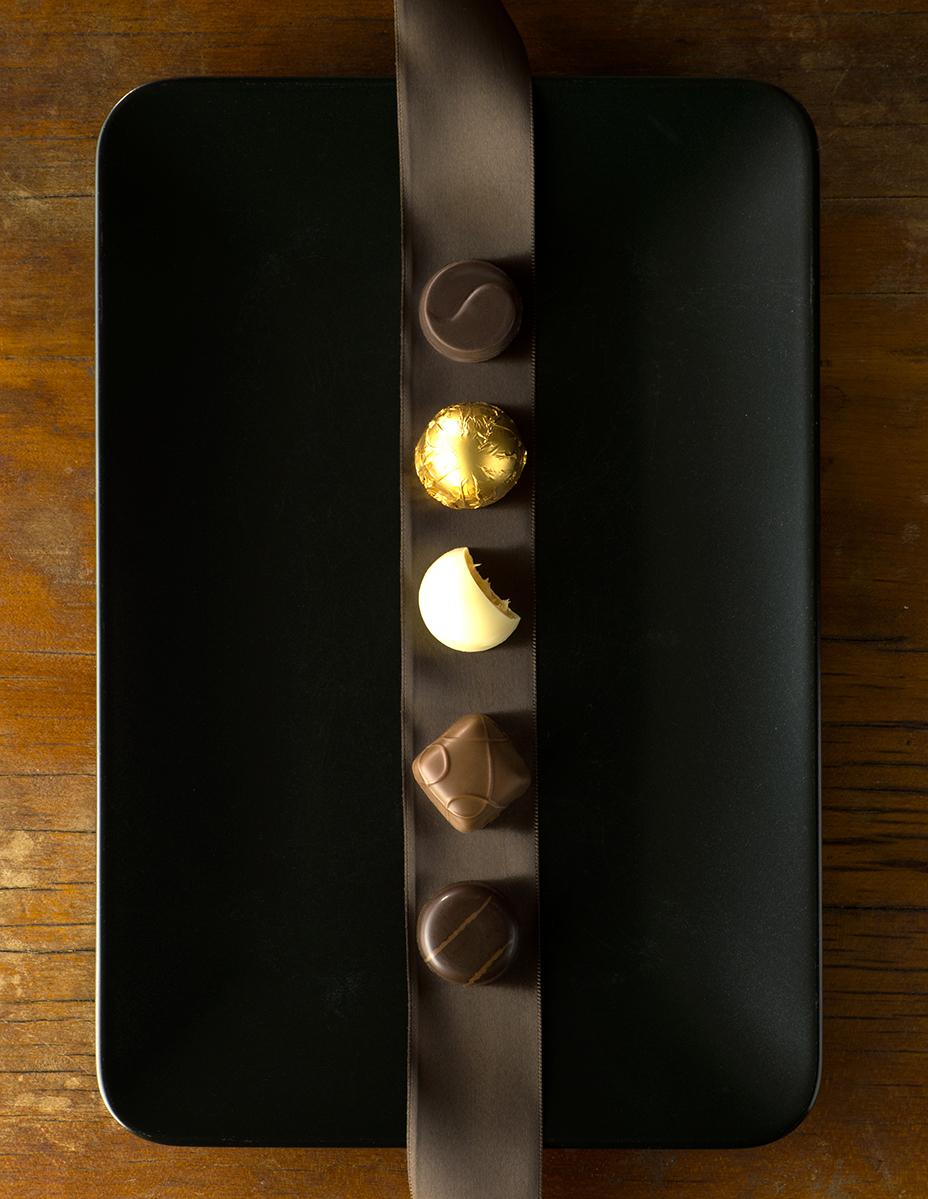 Formal chocolate truffles