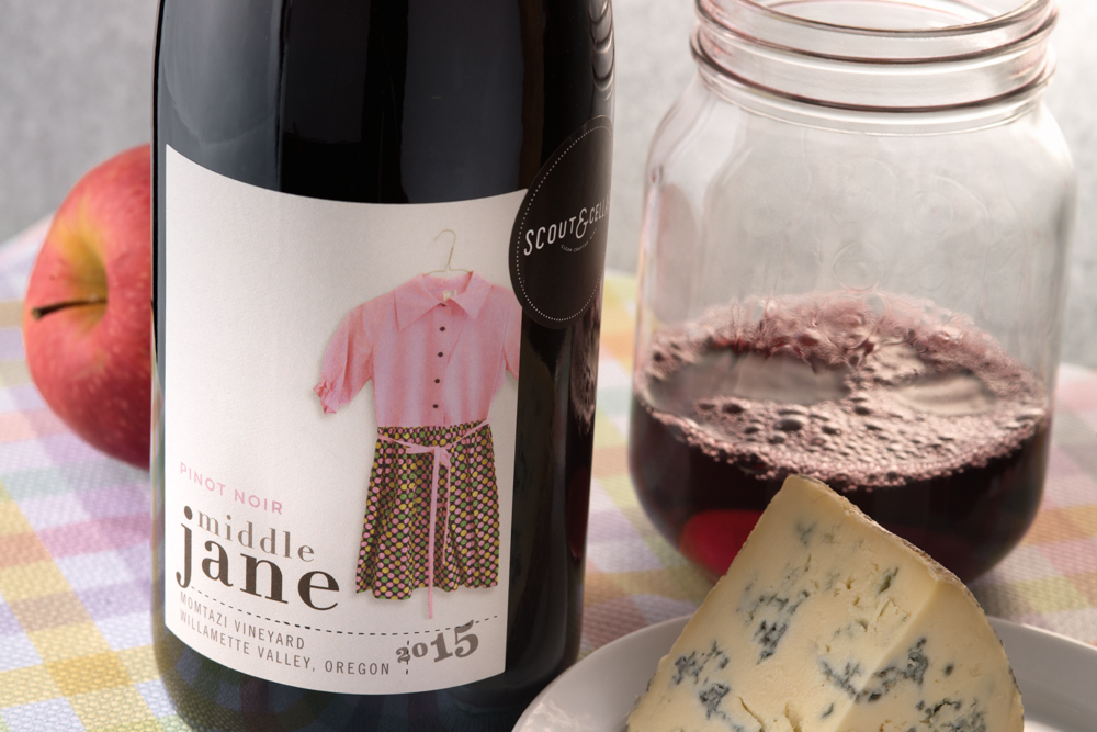 Not so easy to be true to the spirit of the label when the winery takes its name from the vintner's stoic, no-nonsense great grandma. It took me a while to come up with a humble but righteous country feel for this Middle Jane Pinot Noir.