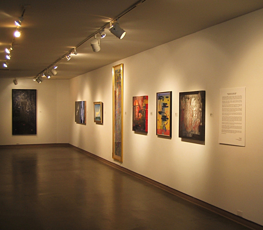 installation view of work by Charles Stokes and Counsel Langley