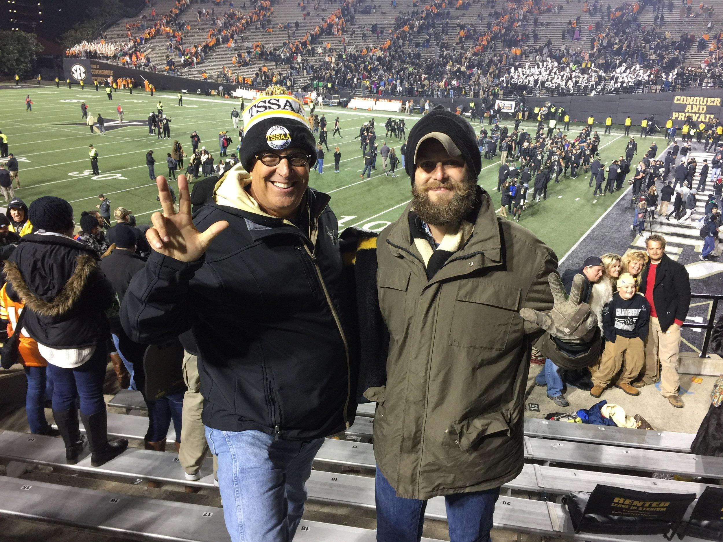 My Son Derek Bargatze at Vanderbilt Football Game