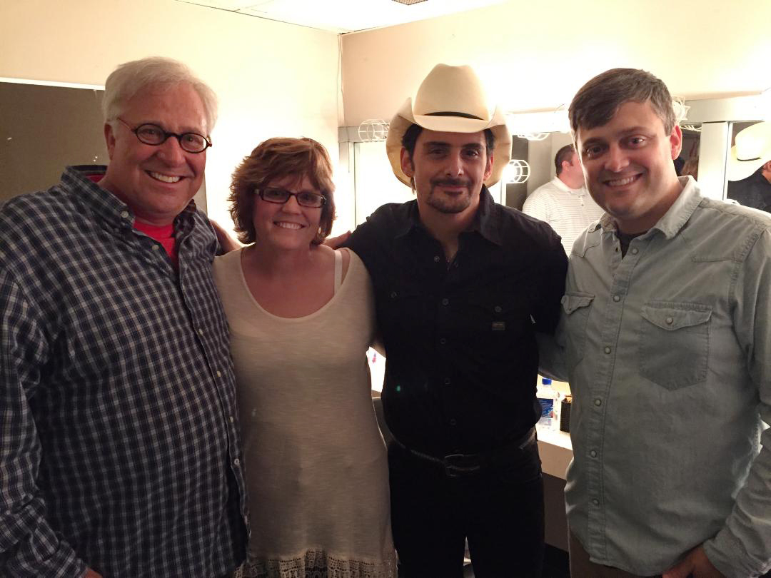 Brad Paisley with My Wife and Son