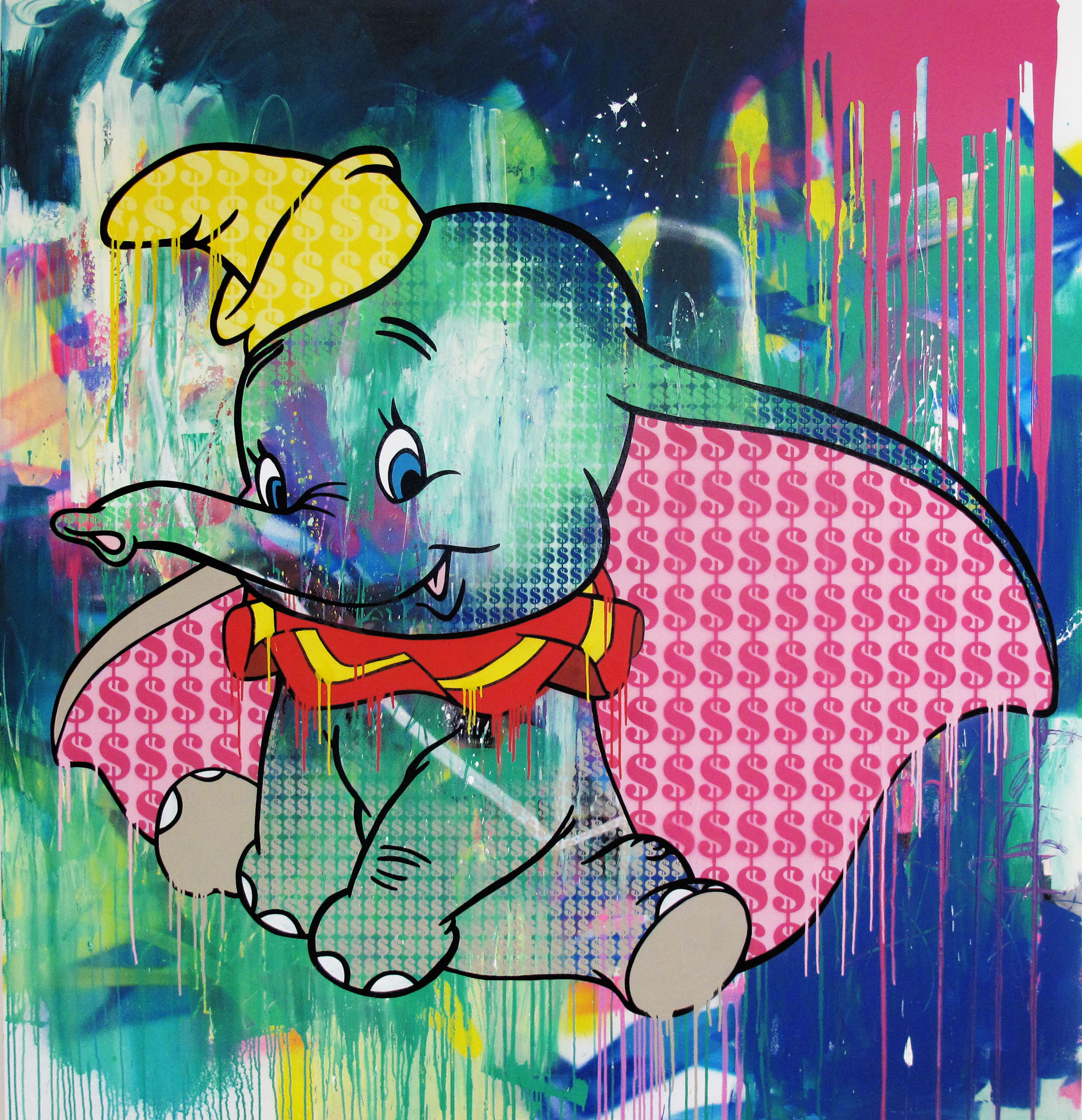 Dumbo-Dollars-acrylic-spray-paint-varnish-on-canvas-190-x-200-x-4.5-cm-£6450.jpg