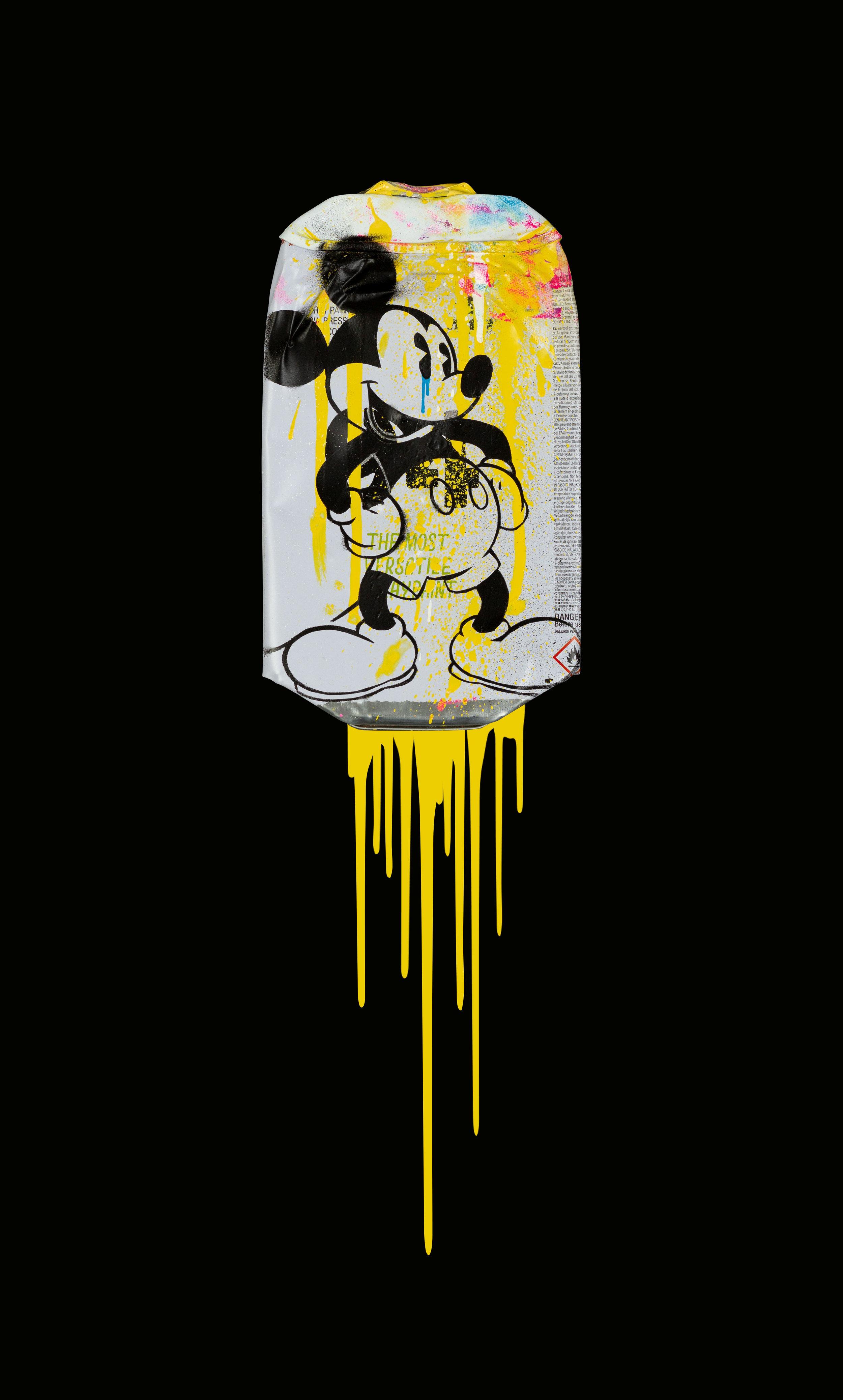Mickey-Montana-94-Light-Yellow-Acrylic-Spray-paint-on-crushed-spray-can-in-museum-perspex-box-frame-27.5cm-x-45cm-x-5.5cm-£725.jpg