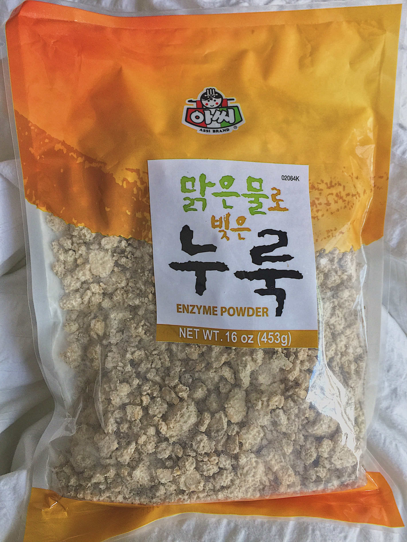 Nuruk. - Sold in Korean or Asian markets, but also easily found online.
