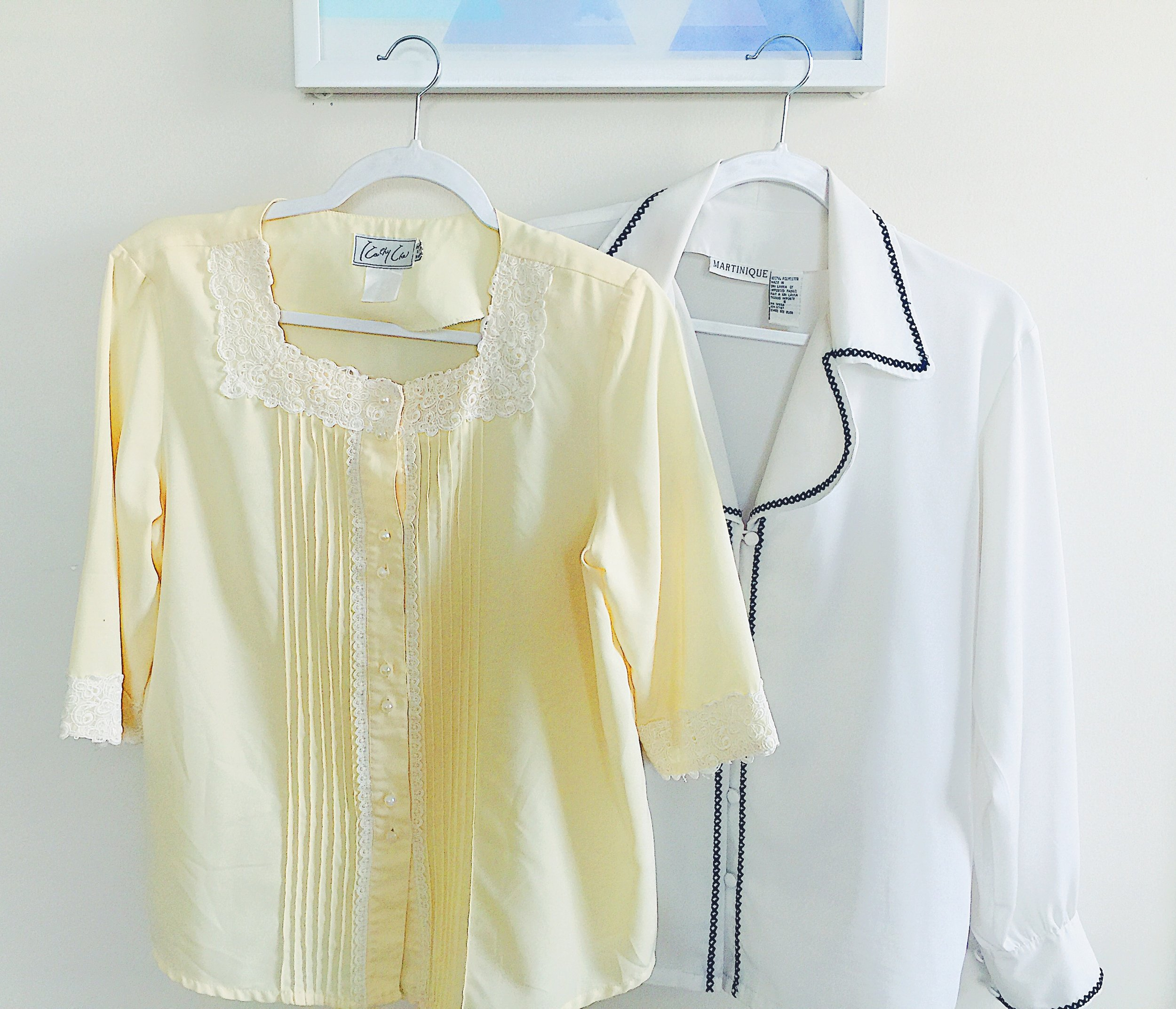 I got these two cute blouses for only $25.