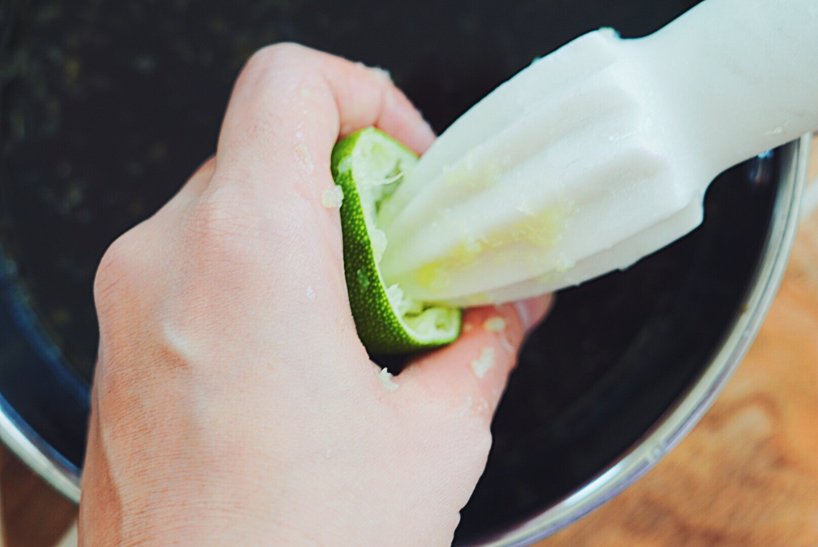 Fresh lime juice is always best!