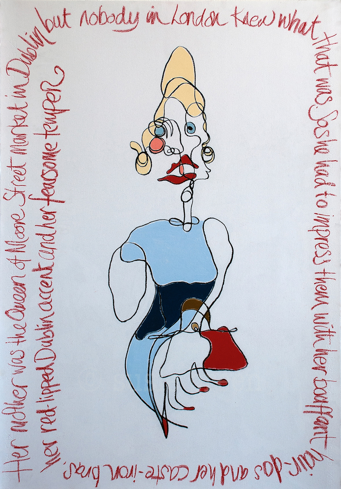 The Queen of Moore Street's daughter.  Rage and Reason Series: Available as limited edition print
