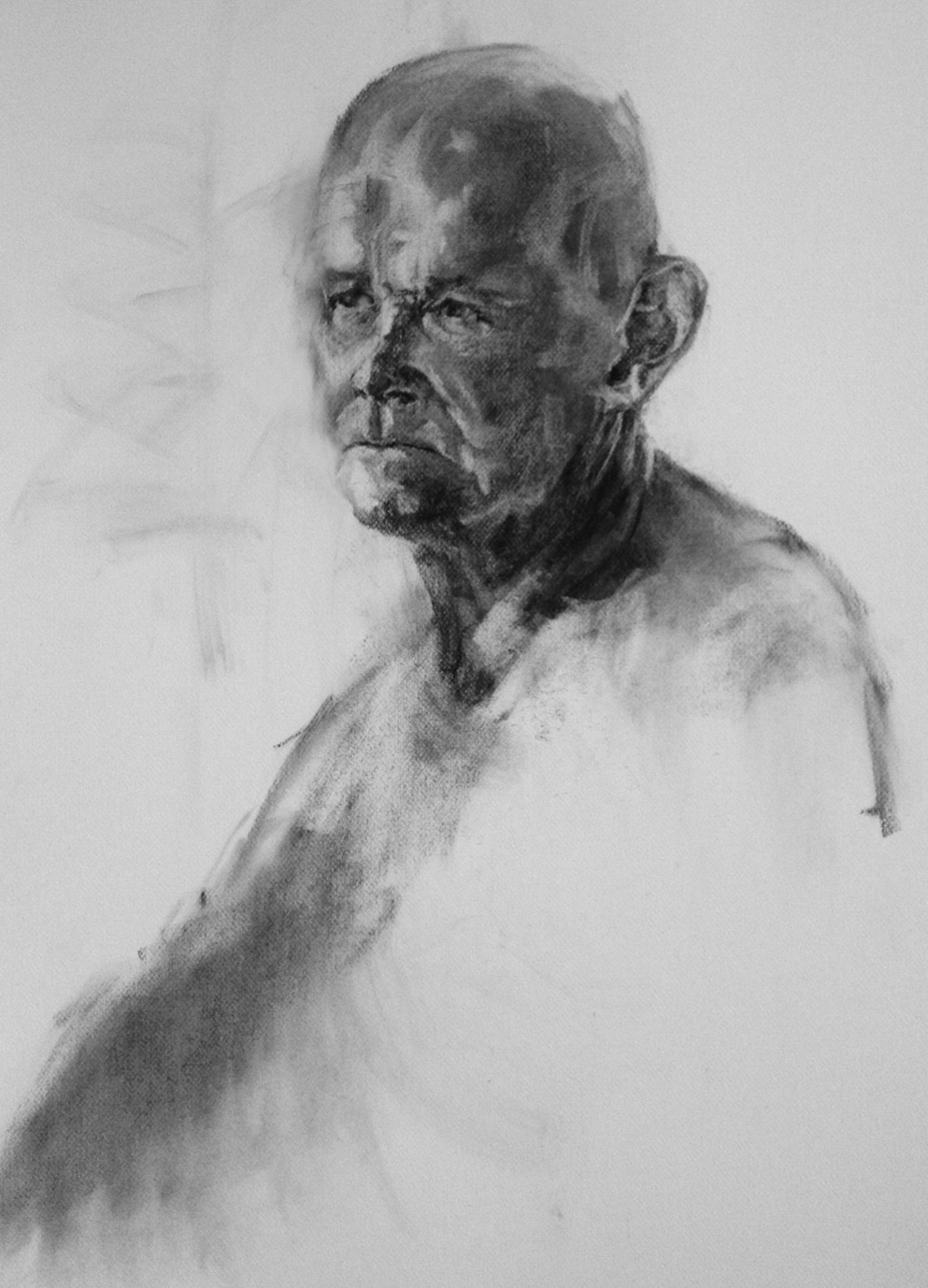 Reverie. Charcoal