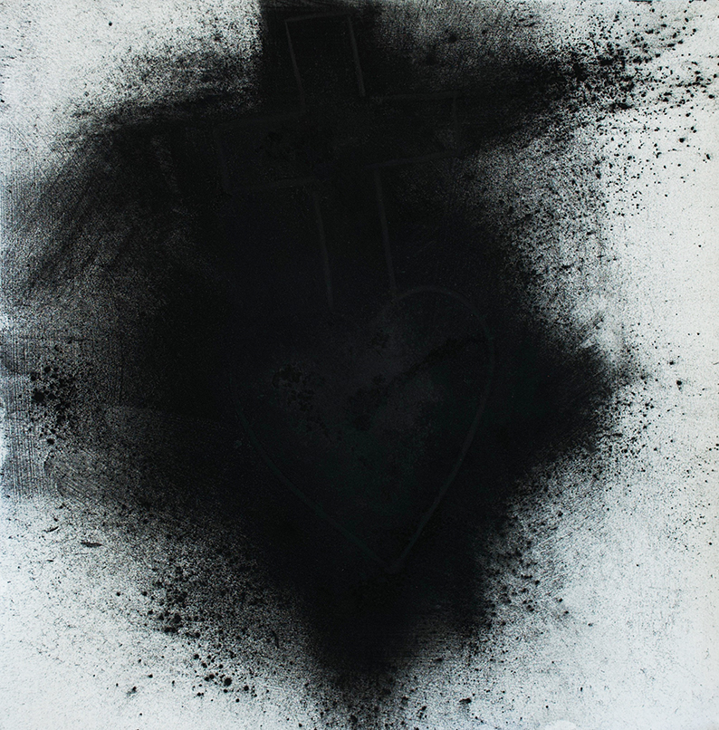 Becoming Lost  Charcoal pigment and chance