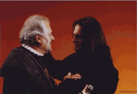 Dans Lorenzaccio, avec Francis Lalanne