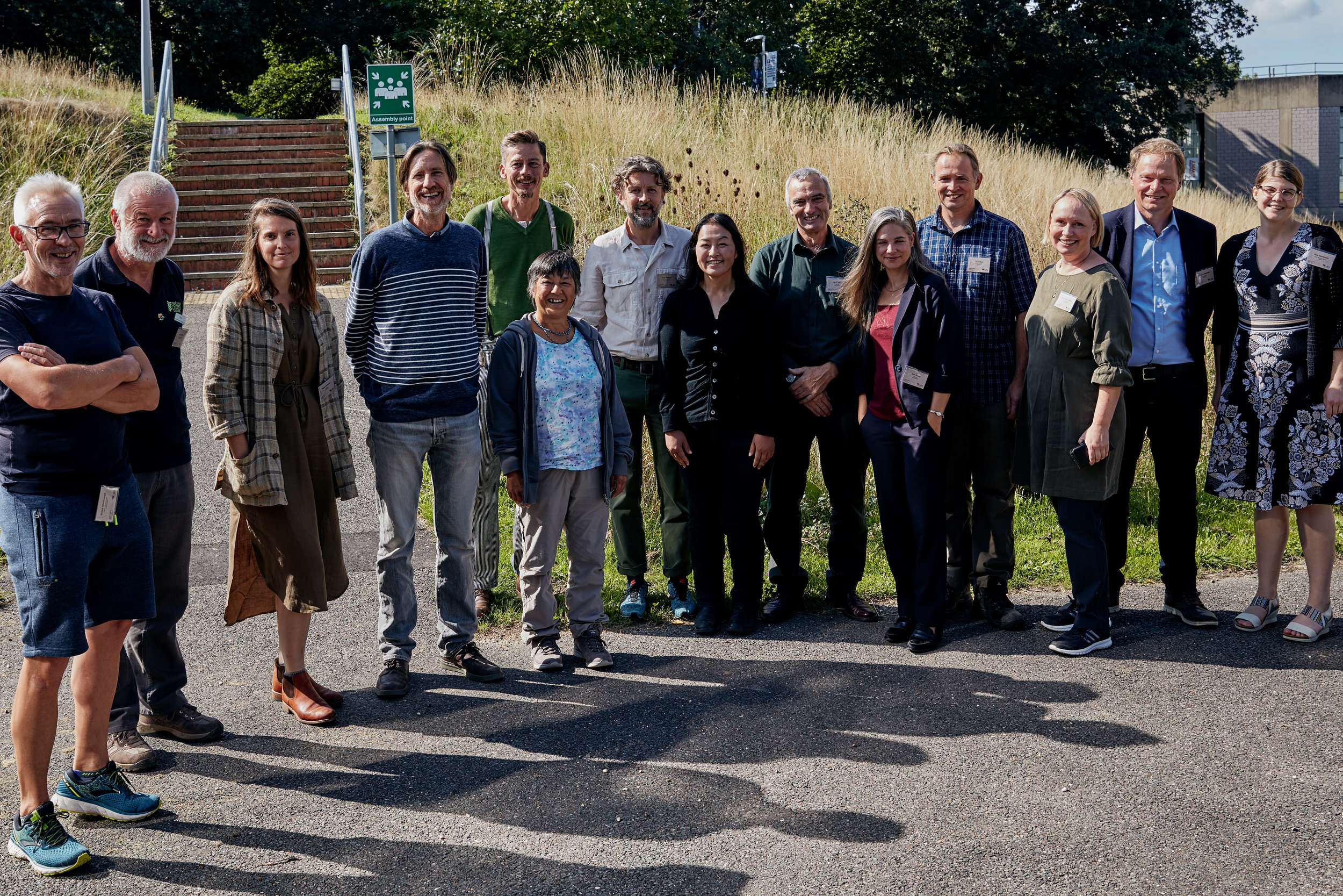 The Beth Chatto Symposium Speakers and Organizing Committee (from left): James Hitchmough, David Ward, Taylor Johnston, Olivier Filippi, Peter Janke, Marina Christopher, Dan Pearson, Midori Shintani, Keith Wiley, Andi Pettis, Peter Korn, Åsa Gregers-Warg, Cassian Schmidt, Amy Sanderson