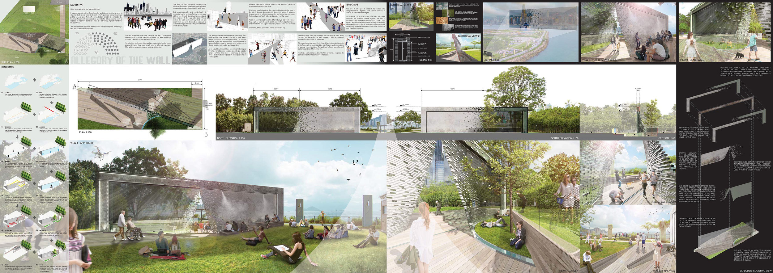 "June 26, 2017 - HONG KONG YOUNG ARCHITECTS & DESIGNERS COMPETITION 2017 SUBMISSIONJust completed the entry submission titled ""Allegory of the Wall"" for the Hong Kong Young Architects & Designers Competition 2017. Good luck to all participants!"