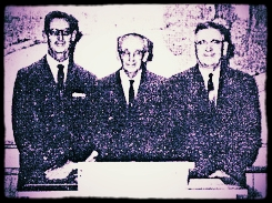 Omer Rouse, Arthur Broyles and Ben Wray ( center, left to right ) began service as shepherds in 1950.