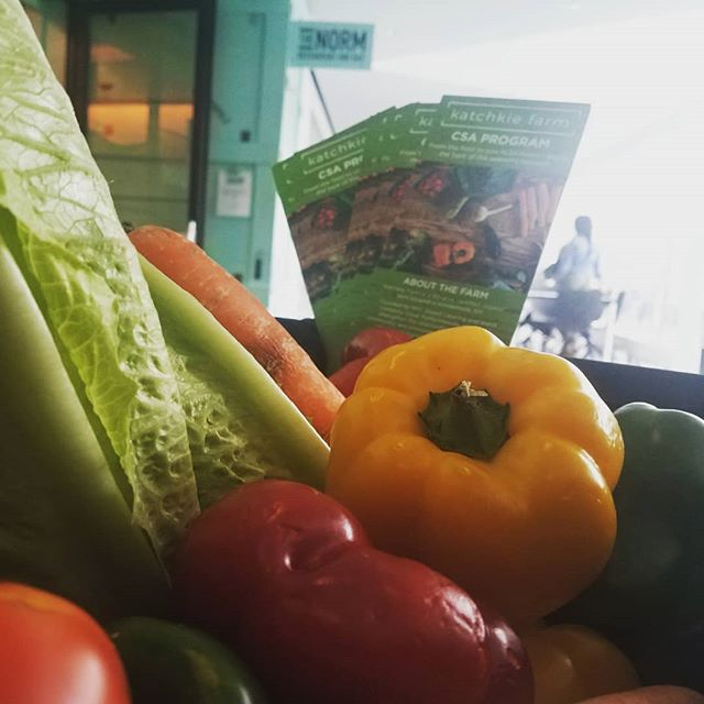 @katchkiefarm is bringing the farm to the downtown Brooklyn table! We're just outside of the award winning @thenormbkm where Chef Saul Bolton makes culinary dreams come true. Stop by, say hello and learn how to get the freshest farm picked organic produce delivered to a location near you.