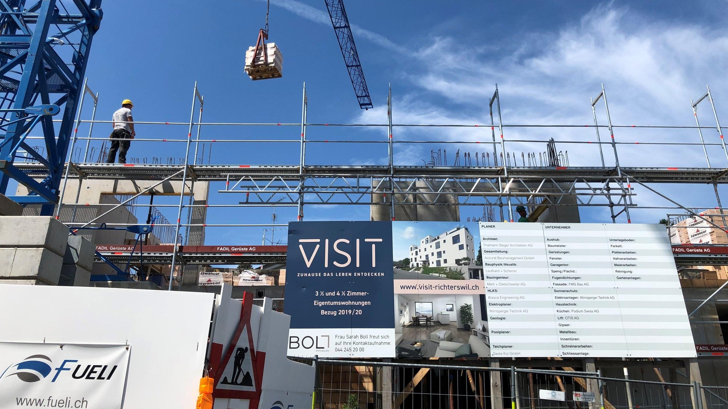 VISIT+-+Baustelle+Neubauprojekt+Boll+Immobilien+Immobilie+verkauft+Richterswil
