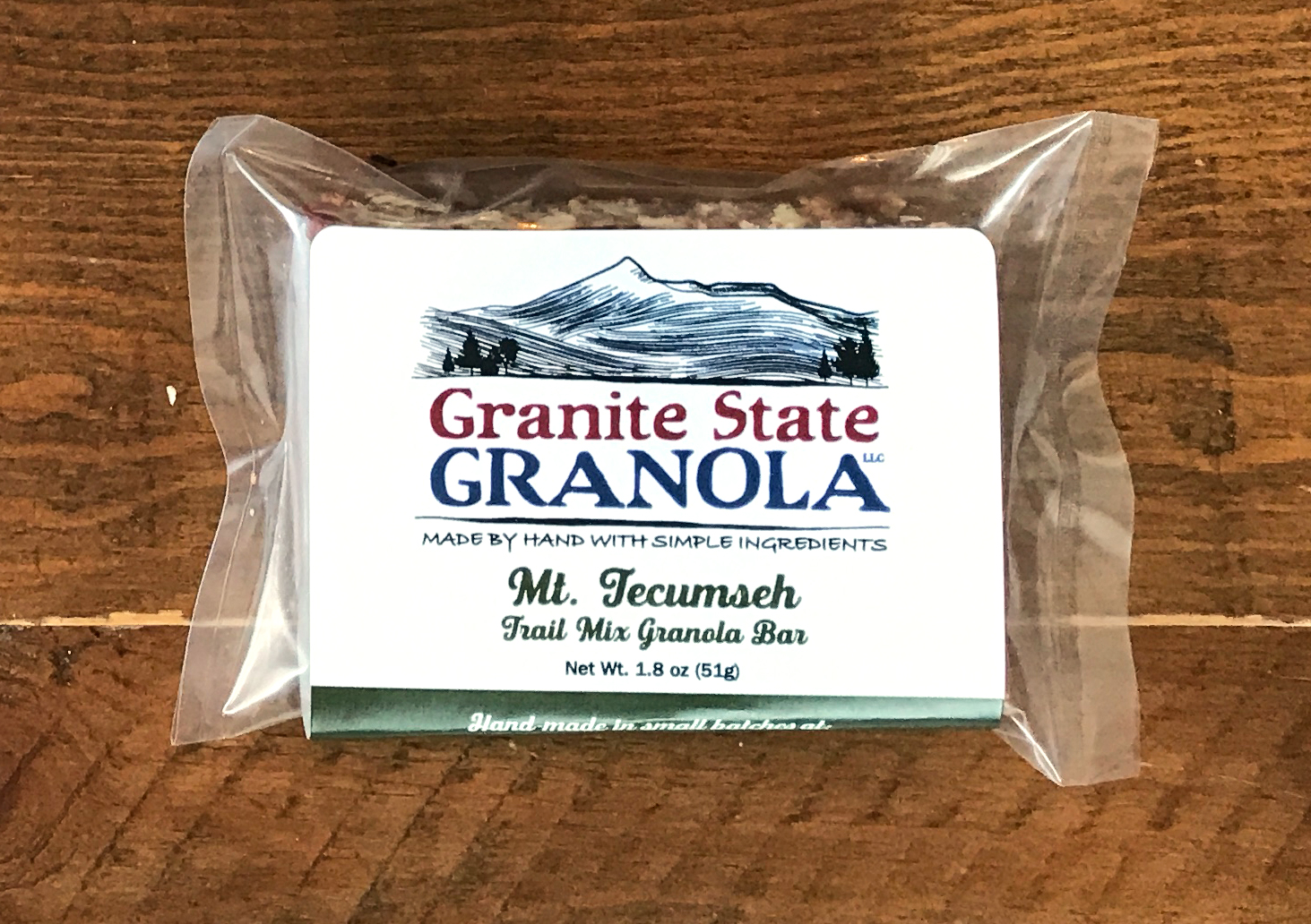 Mt. Tecumseh, Trail Mix Granola Bar