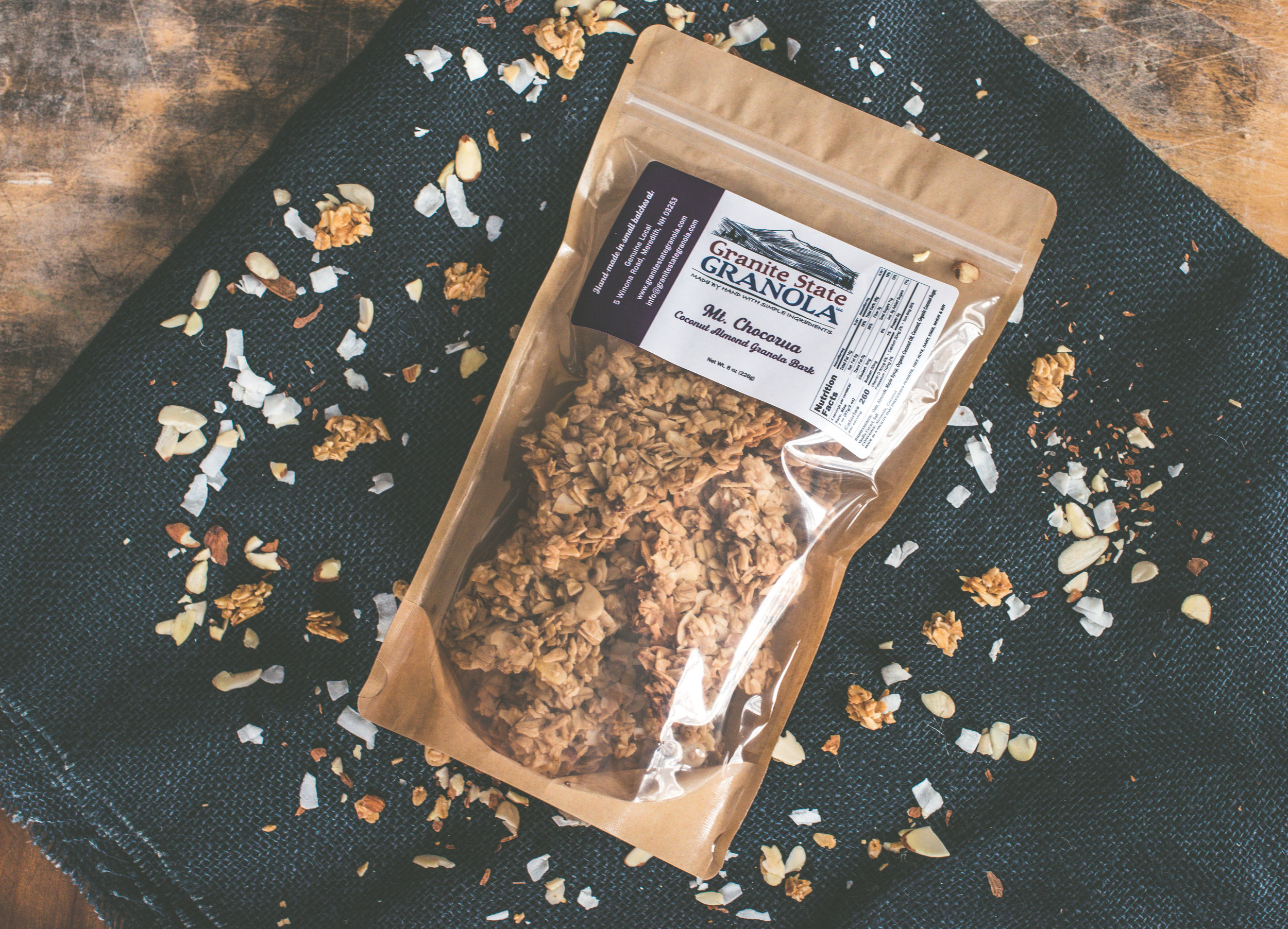Mt. Chocorua, Coconut Almond Granola Bark  Photo Credits: Jessica Ramos, Culture to Table