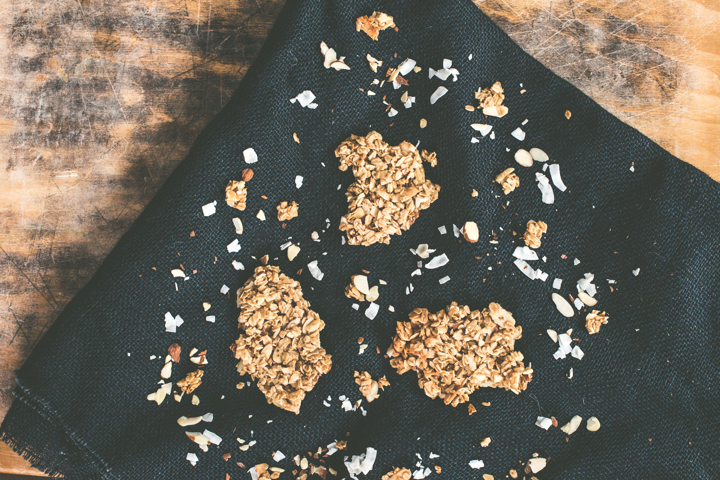 Mt Chocorua Coconut Almond Granola Bark, Unwrapped.
