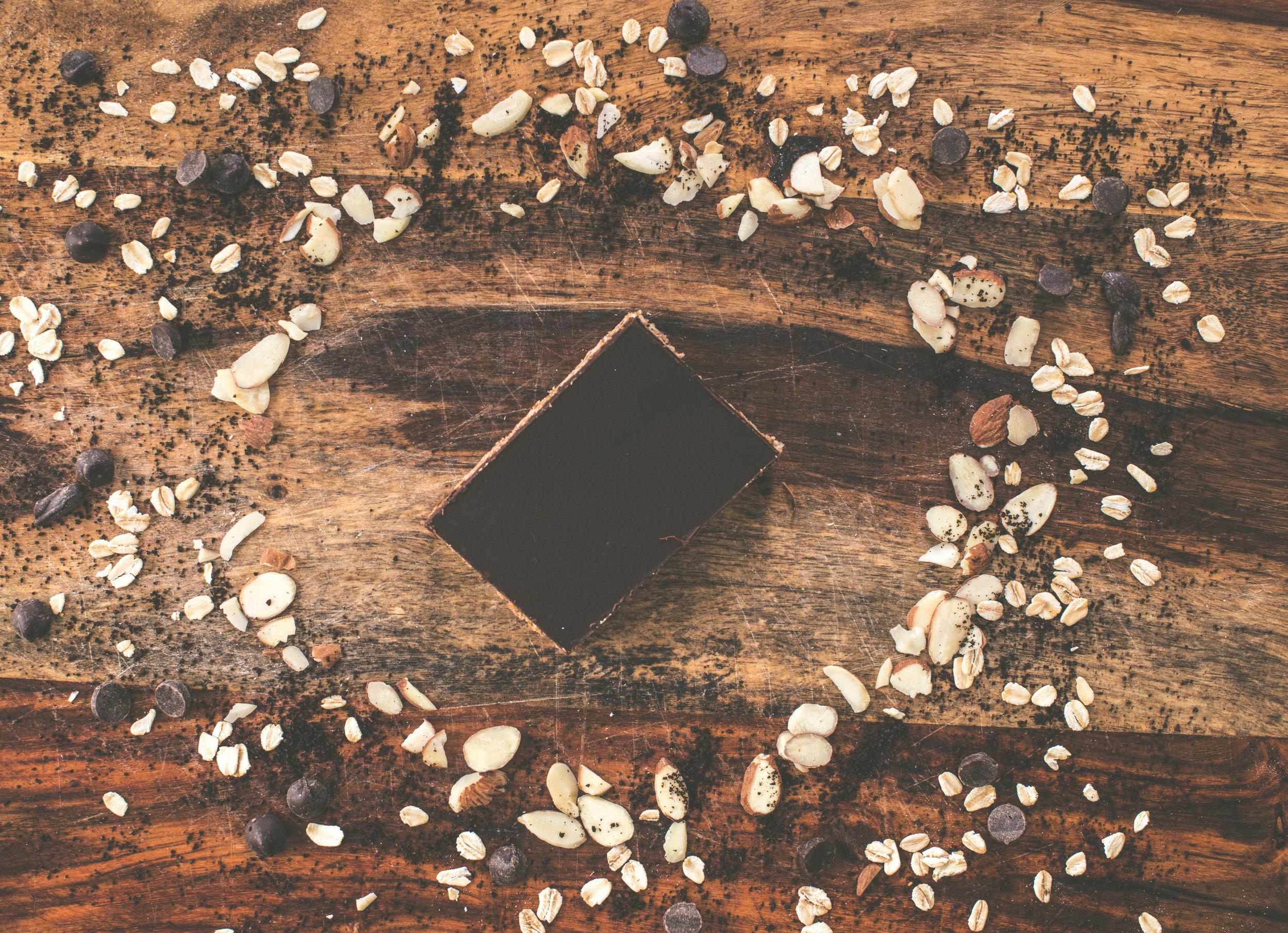 Mt. Moriah, Mocha Buzz Granola Bar Unwrapped.  Photo Credit: Culture To Table