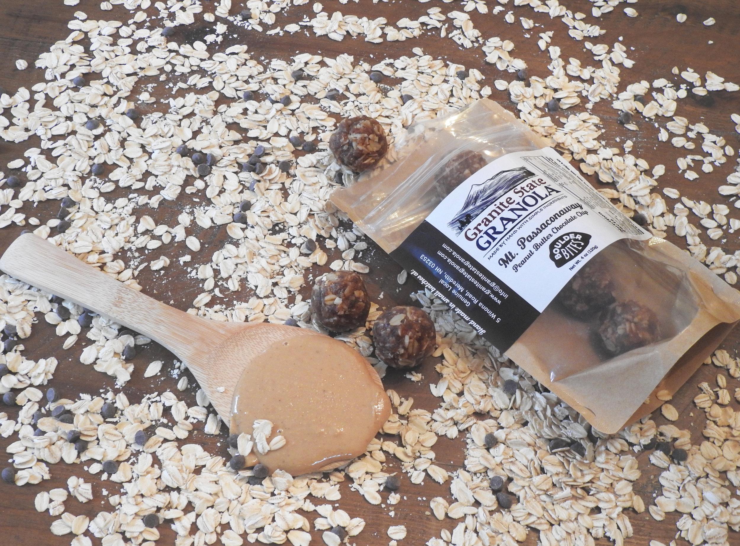 Mt. Passaconaway Peanut Butter Chocolate Chip Boulder Bites.   Photo Credit: Wendy Wetherbee