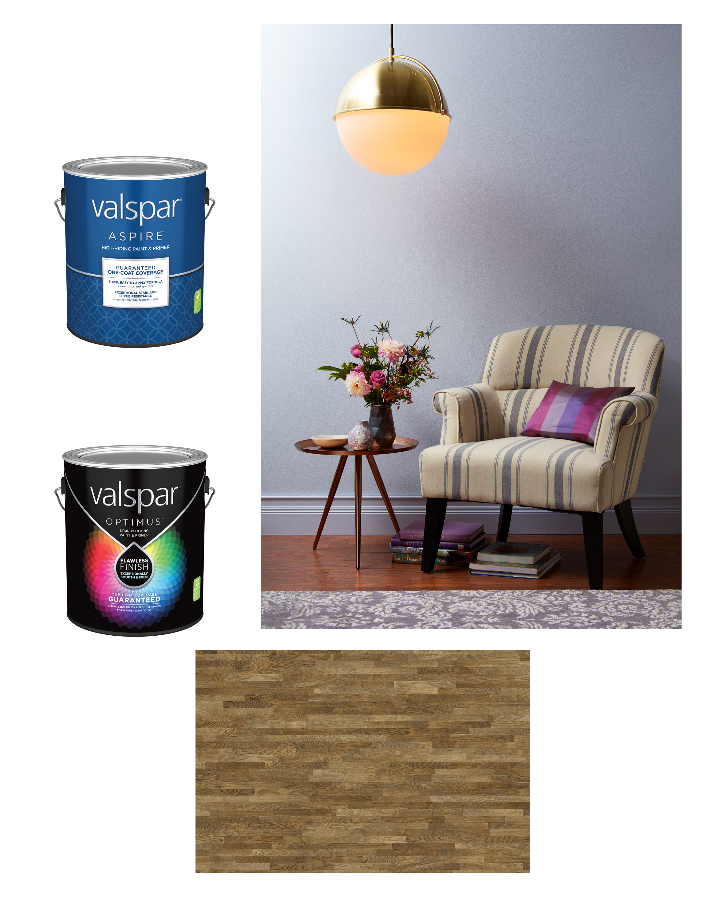 Original Image Assets - Here are the image assets that I used to compose and retouch the ad above. Two CGI product renderings, the original photo of the interior, and a piece of stock art for the flooring.