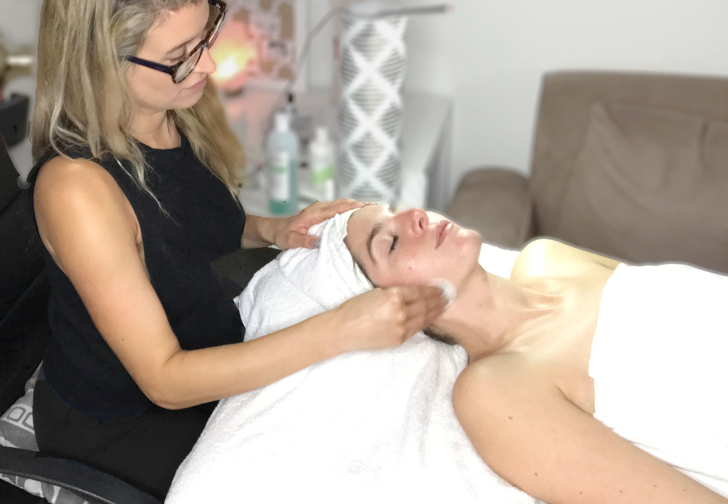 Additional Services  - Signature Facial- A beneficial facial with cleansing, surface     exfoliation, an enzyme peel, steam, necessary extractions, custom mask, and facial massage. *Custom modifications for acne prone skinCustom Add-ons:Anti-Aging Facial- Electrolift toning micro current treatment to stimulate, lift, and sculpt the muscles of the face. Custom Anti-Aging Peel.Microdermabrasion- Reduce blemishes, age spots, fine lines, acne & acne scarring.Chemical Peel- Deep clean pores, control acne, renew, brighten and even skin tone. Reduce fine lines and wrinkles.