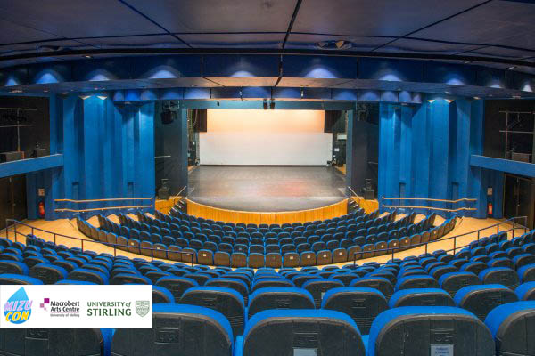 The Mainhouse Theatre and stage located in the Macrobert. Will host our key speakers, perfromance and cosplay competition (Capacity 460)