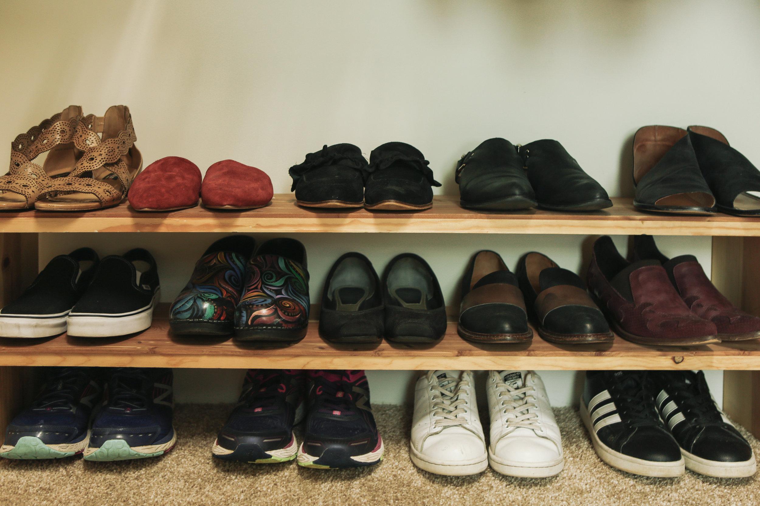 Shoe storage and organization by Simplify Studio