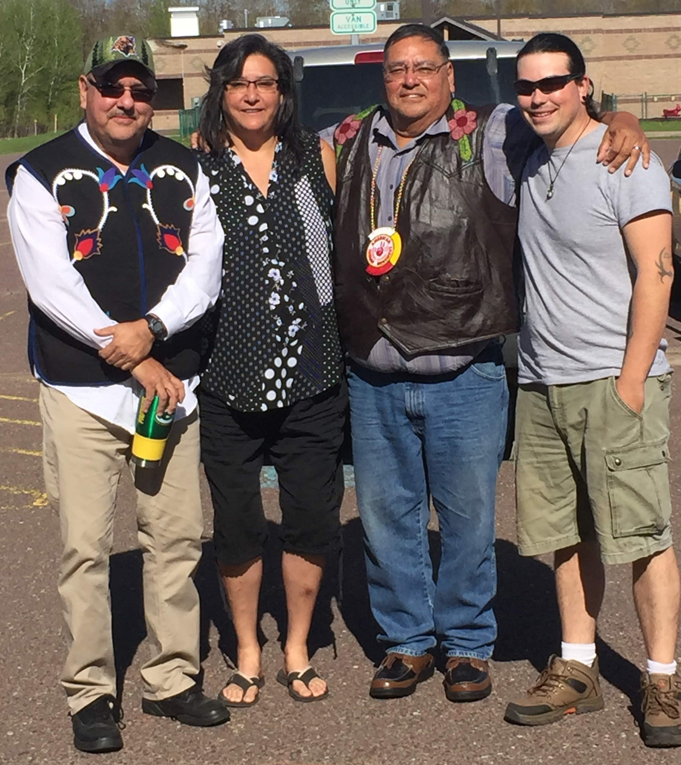 Photo: 2nd Annual Anishinaabe Racial Justice Conference - Panelists from the  Keweenaw Bay Indian Community Sobriety Panel.