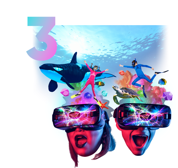 ....Enter a new world..ENTRA A UN MUNDO NUEVO.... - ....Just put on a headset and you are immersed into a full-body social experience..Solo ponte el visor estarás inmerso en una experiencia social de cuerpo completo....