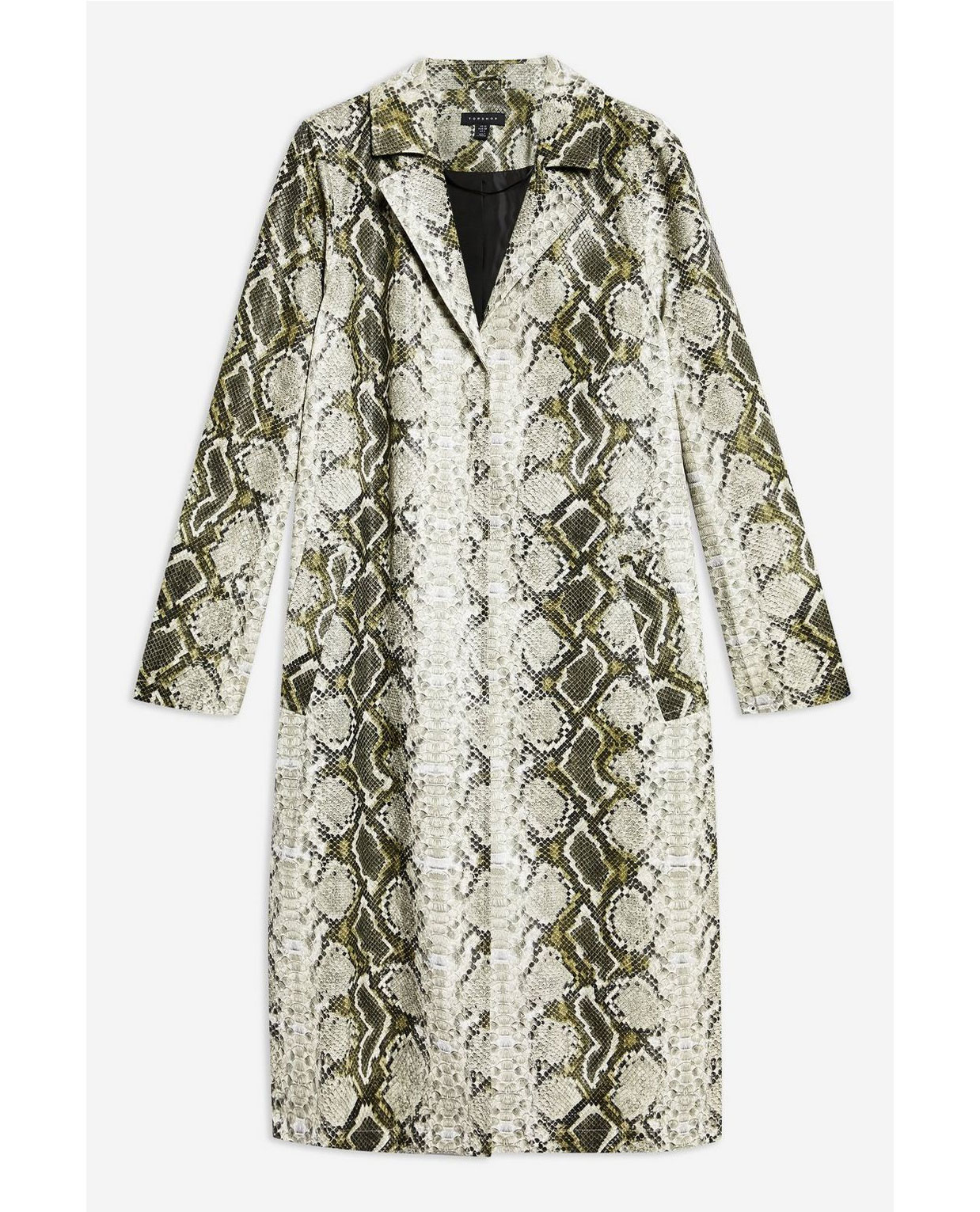 Top Shop Snake Print Coat     $160