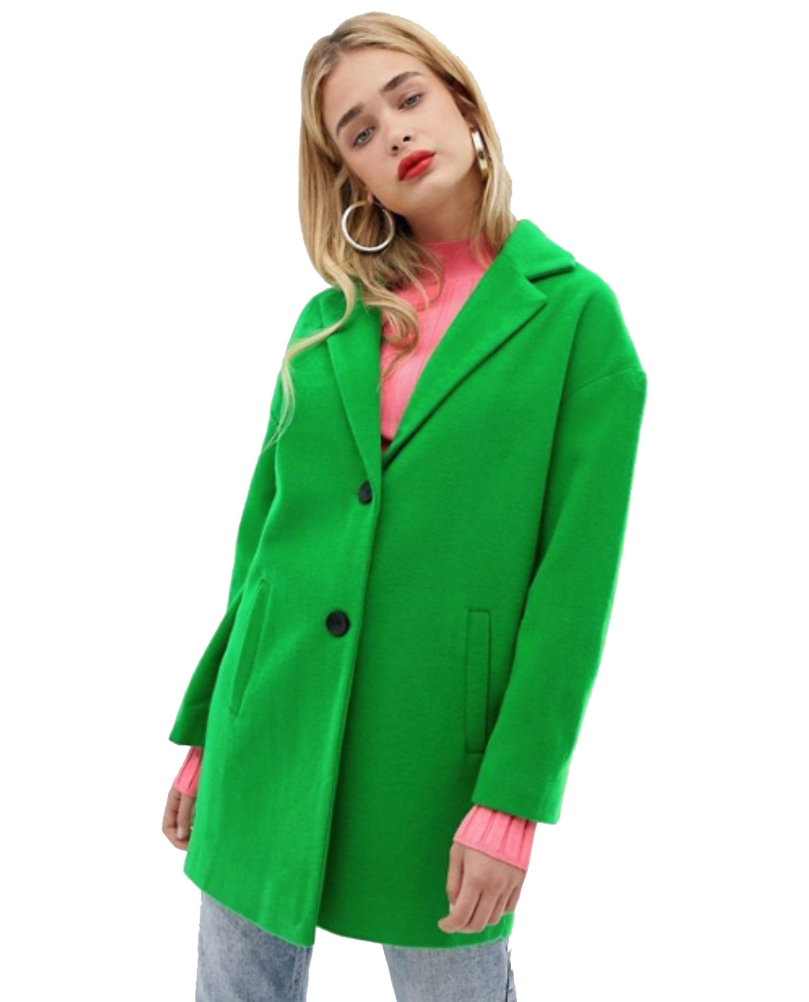 Stradivarius Neon Green Coat     $79