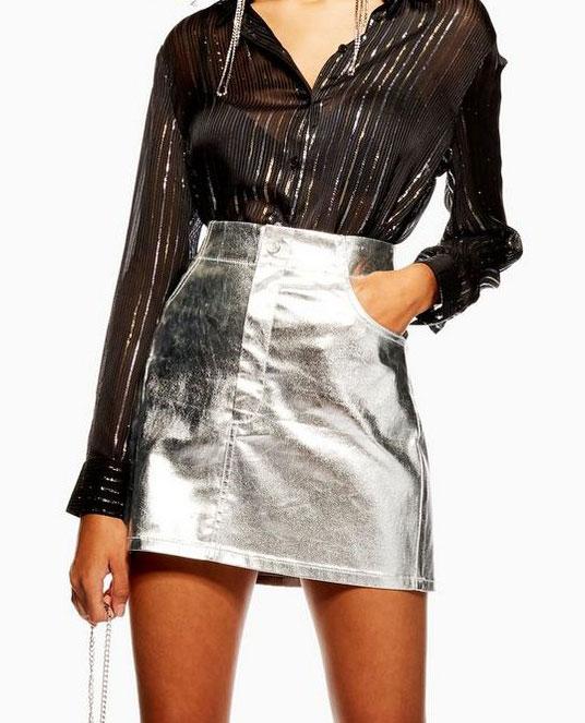 Top Shop Metallic Skirt     $68