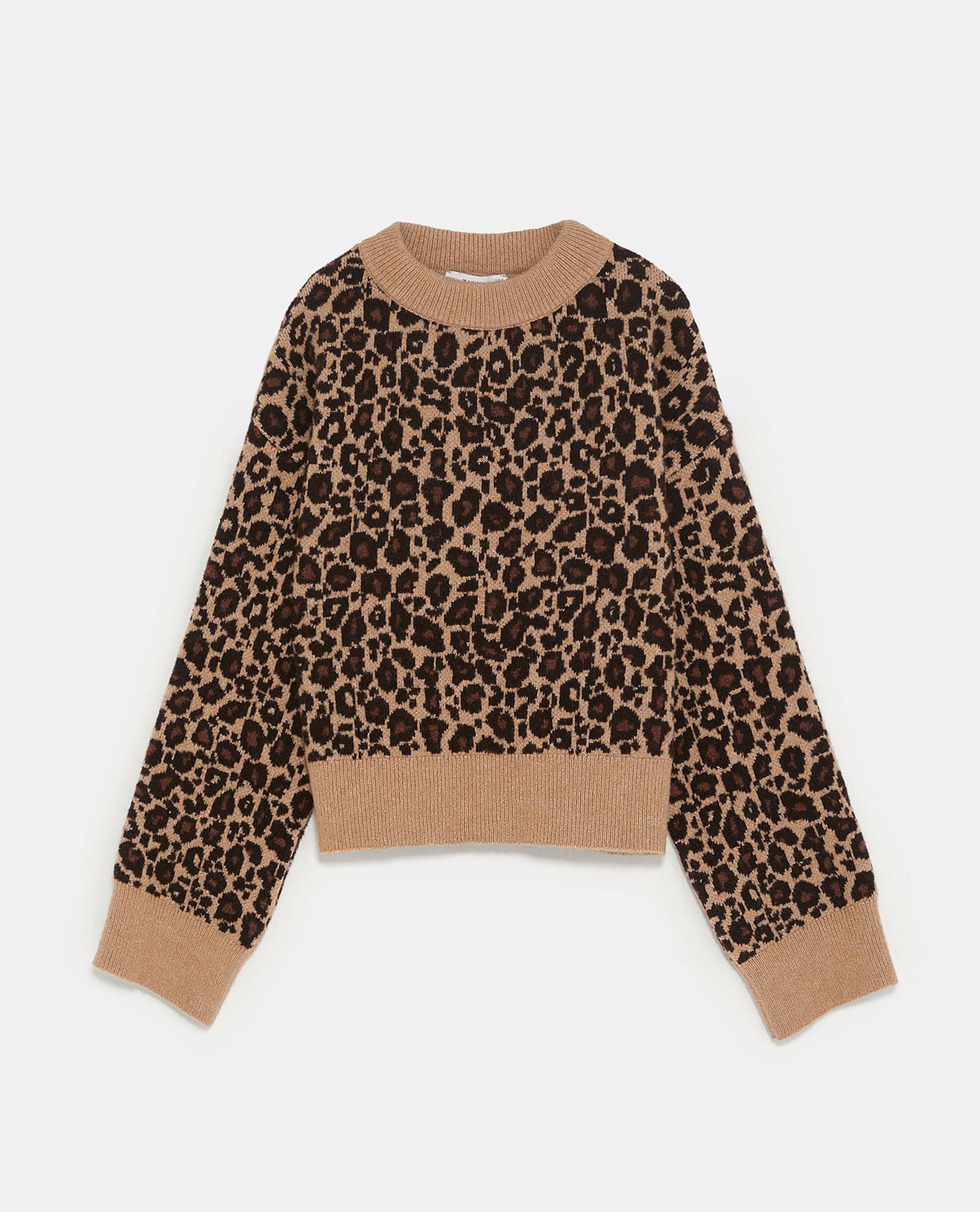 Zara Leopard Sweater       $25.99