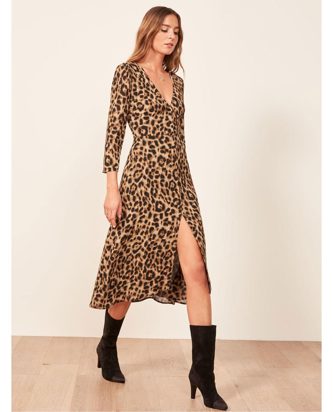 Reformation Leopard dress     $218
