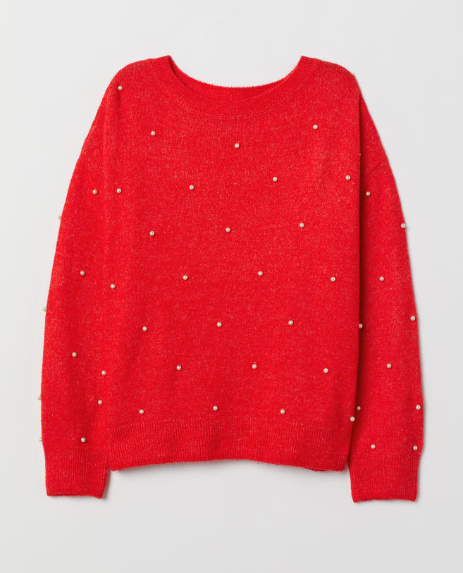 H&M Red Sweater     $19.99