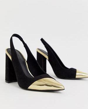 Asos Black Slingbacks     $48